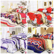 Set of 4 Dekor World 3D Multi Printed BedSheet With 8 Pillow Covers-DWBSCB-013