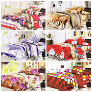 Set of 6 Dekor World 3D Multi Printed BedSheet With 12 Pillow Covers-DWBSCB-014