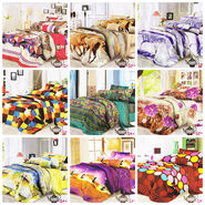 Set of 9 Dekor World 3D Multi Printed BedSheet With 18 Pillow Covers-DWBSCB-015
