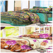 Set of 2 Dekor World 3D Multi Printed BedSheet With 4 Pillow Covers-DWBSCB-019