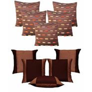 Dekor World Brown Loopy Cushion Cover Combo.(Pack Of 10 Pcs)-DWCB-145