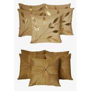 Dekor World Cream Floral Combo. Cushion Cover(Pack Of 10 Pcs)-DWCB-155