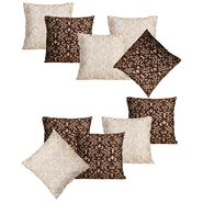 Dekor World Golden Printed Combo. Cushion Cover (Pack of 10)-DWCB-205-12