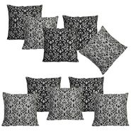 Dekor World Golden Printed Combo. Cushion Cover (Pack of 10)-DWCB-209-12