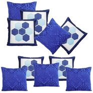 Dekor World Blue delight Combo. Cushion Cover (Pack of 10)-DWCB-210