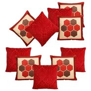 Dekor World Maroon delight Combo. Cushion Cover (Pack of 10)-DWCB-211