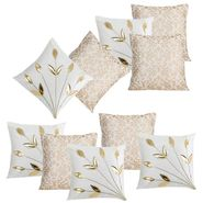 Dekor World Cream Delight Combo. Cushion Cover (Pack of 10)-DWCB-213-12