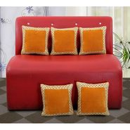 Dekor World Royal Zari Work Cushion Cover(Pack of 5)-DWCC-12-150-5