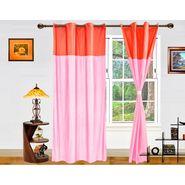 DEKOR WORLD PLAIN PEACH PINK EYELET Window Curtain 2 SET-DWCT-269-5