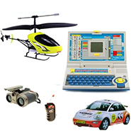 Combo Of Delhi Haat Wireless Infrared Control Helicopter With Remote And Night Fly Lights + Radio Control Car With Remote + Advance Laptop For Kids For Creative Learning + Night Scope Binocular