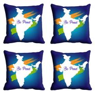 meSleep Republic Day Be Proud Cushion Cover (16x16) -EV-10-REP16-CD-001-04