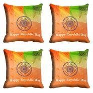 meSleep Happy Republic Day Cushion Cover (16x16) -EV-10-REP16-CD-040-04