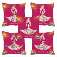 Set of 5 meSleep Digitally Printed Cushion Cover-CD-005