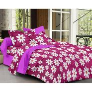 Ahem Homes Cotton  Double Bedsheet  With 2 Pillow Cover-EX1204
