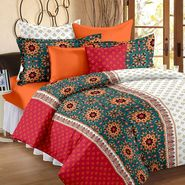Bedspun 100% Cotton Double Bedsheet With 2 Pillow Covers-FR1416