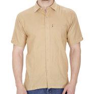 Fizzaro Plain Linen Casual Shirt For Men_Fzls109 - Brown