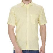 Fizzaro Plain Linen Casual Shirt For Men_Fzls110 - Yellow