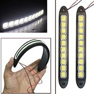 AutoStark Flexible Bumper Protector Car Daytime Running Light White