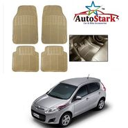 AutoStark - Premium Quality Beige Rubber Car Foot Mat For - Fiat Palio