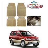 AutoStark - Premium Quality Beige Rubber Car Foot Mat For - Chevrolet Tavera