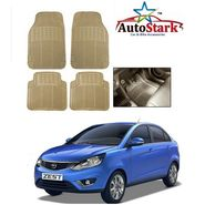 AutoStark - Premium Quality Beige Rubber Car Foot Mat For - Tata Zest