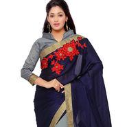 Indian Women Satin Chiffon Printed Saree -GA20121