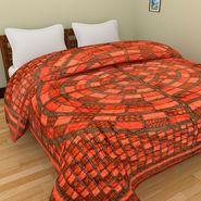 GRJ India Designer Printed Single Bed Quilt-GRJ-SQ-163