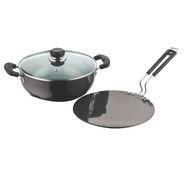 Vinod Cookware Black Pearl  Hard Anodised 2pc Combo Set HACM-2