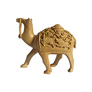 eCraftIndia Hand Carved Wooden Camel - Brown