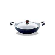Hawkins Futura HA Deep Fry Pan with SS Lid 7.5L - Black