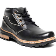 Synthetic Leather Black Boots -bn4