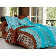 IWS Cotton Printed Double Bedsheet with 2 Pillow Covers-IWS-CB-1250