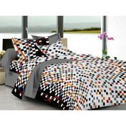 IWS Cotton Printed Double Bedsheet with 2 Pillow Covers-IWS-CB-1256