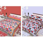 IWS Set of 2 Designer Double Cotton Bedsheet with 4 Pillow cover IWS-CCB-11