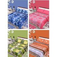 IWS Set of 4 Designer Double Cotton Bedsheet with 8 Pillow cover IWS-FCCB-09