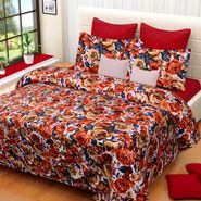 IWS Printed  Double Bedsheet with 2 Pillow Covers-IWS-NPrinted-01