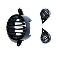 AutoSun Combo of 1 Brake and 2 Pilot Light Grills for Royal Enfield (Black)