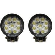 AutoSun Flood Beam Auxiliary LED Lamp for Cars and Bikes (27W) Set Of 2