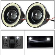 AutoSun 2Pc 3.5Inch Car Fog Lamp Angel Eye DRL Led Light