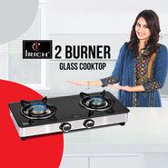 Irich 2 Burner Glass Cooktop