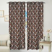 JBG Home Store Set of 2 Beautiful Design Door Curtains-JBG918_1BKKD