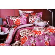 4D Printed  Double Bed Sheet With 2 Pillow Cover- JF-003