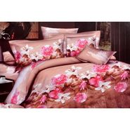 4D Printed  Double Bed Sheet With 2 Pillow Cover- JF-004