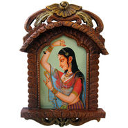 Jaipuri Lady Bani Thani Wooden Jharokha Gift -137