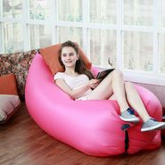 Kawachi Inflatable Portable Sofa For Camping, Hiking, Beach Activities - Pink