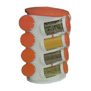 16 Jar Revolving Multipurpose Rack