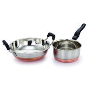 Klassic Vimal Cookware set of Kadai and Sauce pan KV101
