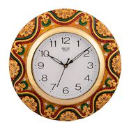 Wooden Papier Mache Dazzling Wall Clock-KWC558