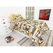 Storyathome 100% Cotton Kids Single Bedsheet with 1 Pillow Cover-KZ1406