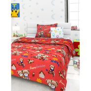 Storyathome 100% Cotton Kids Single Bedsheet with 1 Pillow Cover-KZ1410